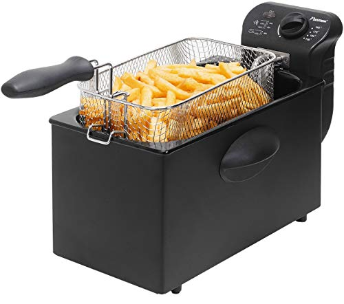 Bestron Fritteuse Cool Zone, Für 1 kg Frittiergut, 3,5 Liter, 2000 W,...