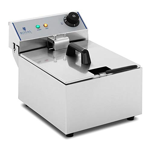 Royal Catering RCEF-10EY-ECO - Fritteuse 3200 W 10 L Max. Füllmenge...